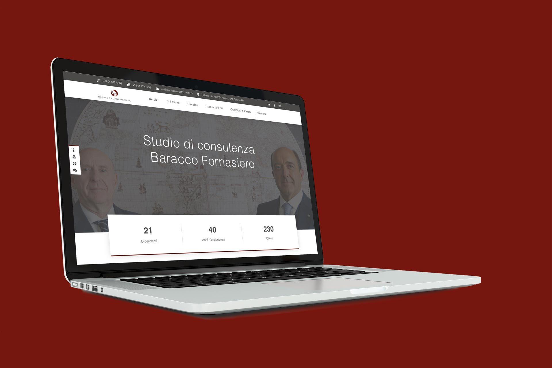 Studio Baracco Fornasiero: il sito firmato Pernice Comunicazione